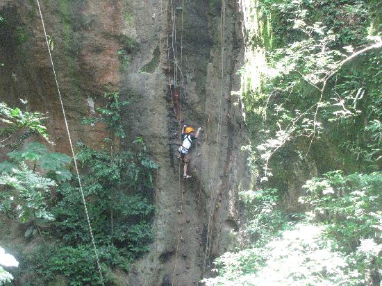 Kingdom Tours: My 9 year old on his way up!