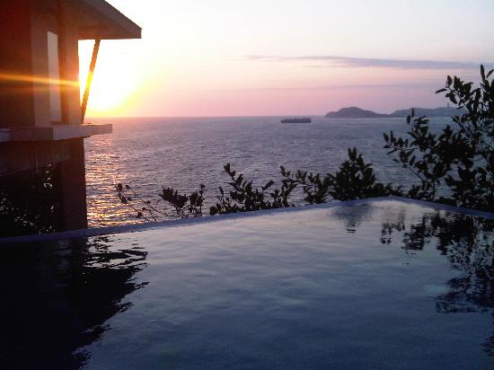 Banyan Tree Cabo Marques: Watching the sunset from our villa