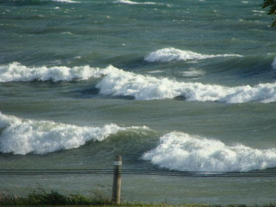 Moonlight on the Lake B&B: Lake Ontario and beautiful waves