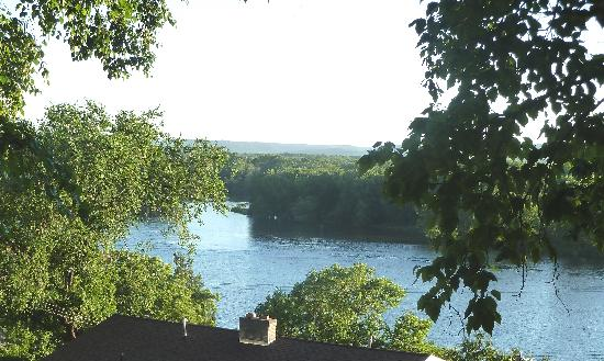 The Tritsch House: River view from the balconey.
