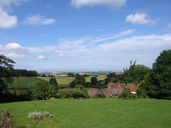 Castle of Comfort Country House : View to Bristol Channel from the garden