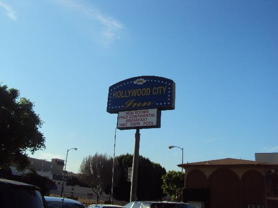 Hollywood City Inn Sign