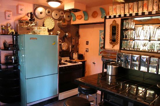 Victoria's Last Resort: The retro kitchen in guest suite