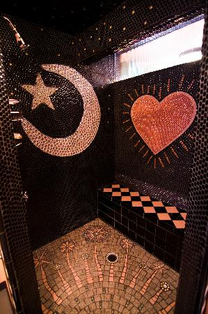 Victoria's Last Resort: Awesome mosaic shower in guest suite