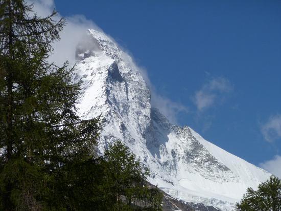 View of Matterhorn from train window