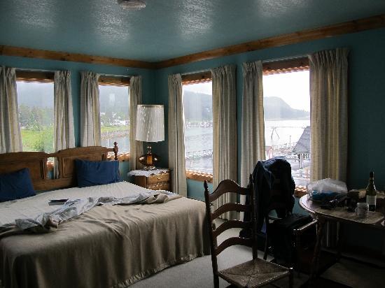 Sheltered Harbor: vom Zimmer direkter Blick auf die Bucht