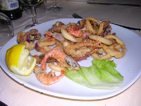 Il Gambero: fritto misto (gamberi e calamari)