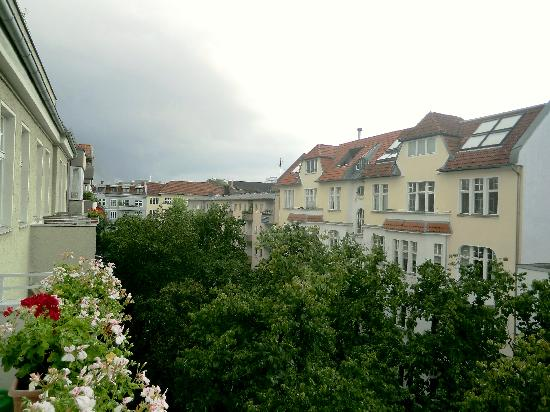 Hotel-Pension Bregenz: View from the balcony