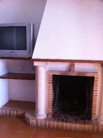 Aparthotel Ona Aucanada: Dirty fire place