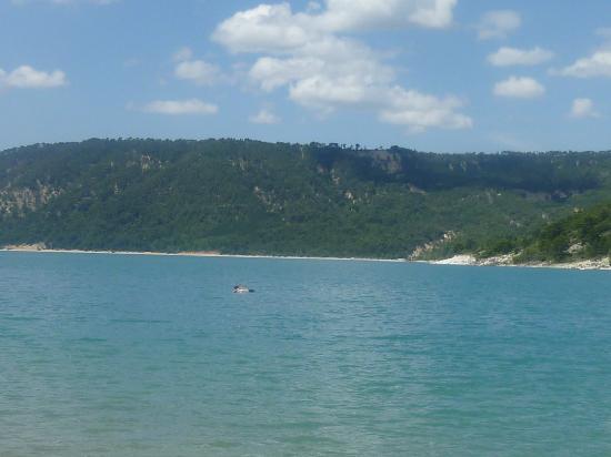 Gorges du Verdon: The Lac de St Croix.