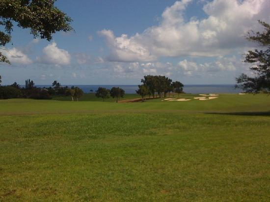 Wyndham Ka 'Eo Kai: Golf course view from the pool