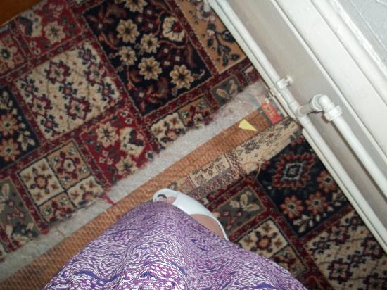 Fawlty Towers: the carpet we kept triping up on, as we came into the room