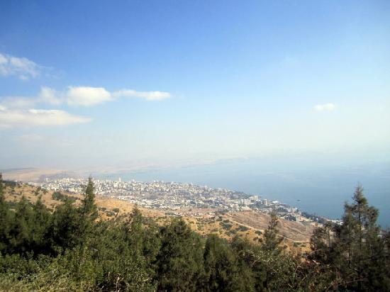 Sea of Galilee: View from atop The Switzerland Forest above Tiberias