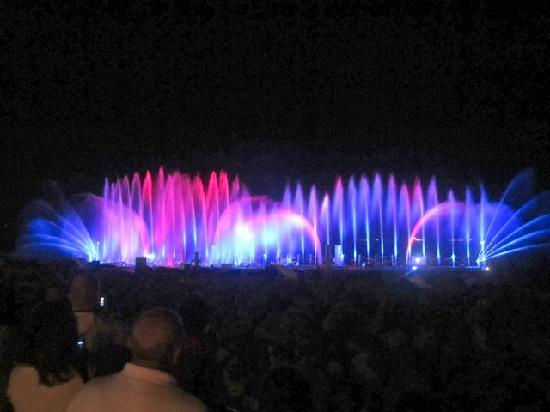 Tiberias, Israel: Lightshow that appears nightly at 9:30pm(Bellagio has nothing on it)