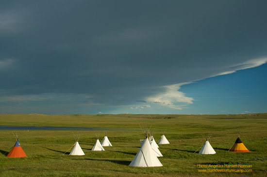 Blackfeet Tipi Village in Browning