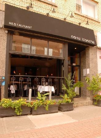 Image of: Commercial Garage Door Restaurant On Restaurant Carte Blanche Open Garage Door Picture Of Blanche Montreal