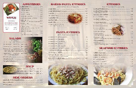 Big bob's Restaurant and Pizza: Menu