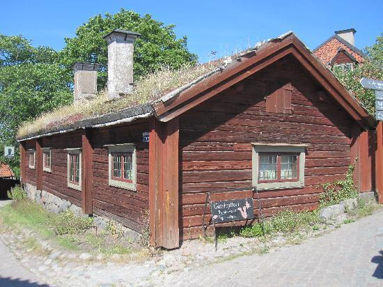 old swedish homes - picture of skansen open-air museum, stockholm