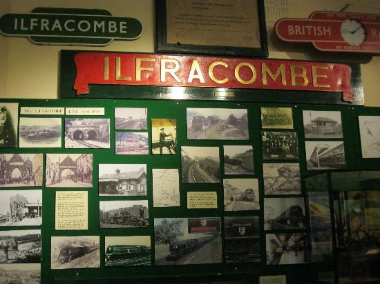 Ilfracombe Museum: old Ilfracombe station signs