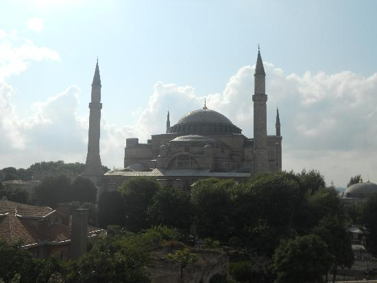 And Hotel: view of the Aya Sofya from our 5th floor room (no zoom!)