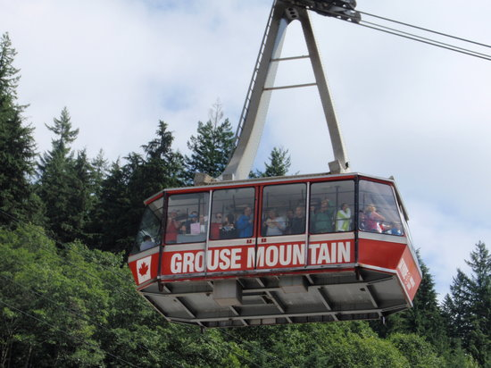 Grouse Mountain Skyride: up