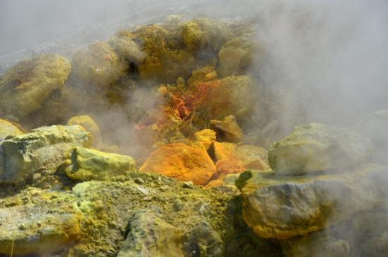 Vulcano Solfatara: Steam from the Earth