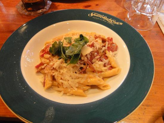 Pasta dish at The Shamrock Cafe