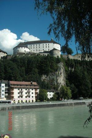 Kufstein Fortress : Festung Kufstein from the River Inn