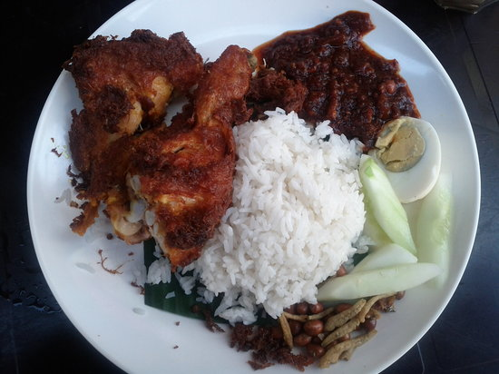 Nasi Lemak with Fried Chicken - Picture of Village Park Restaurant