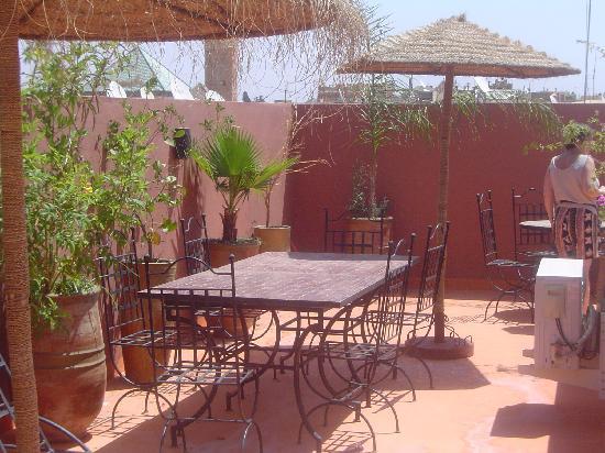 Riad Hcekarram : la terrasse