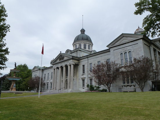 Kingston, Canada: Along the walk...the site planned as Canada's parliament - before Queen Vic chose Ottawa