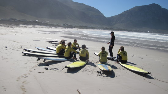 Stoked School of Surf Lessons & Surf Trips: Practice on the beach