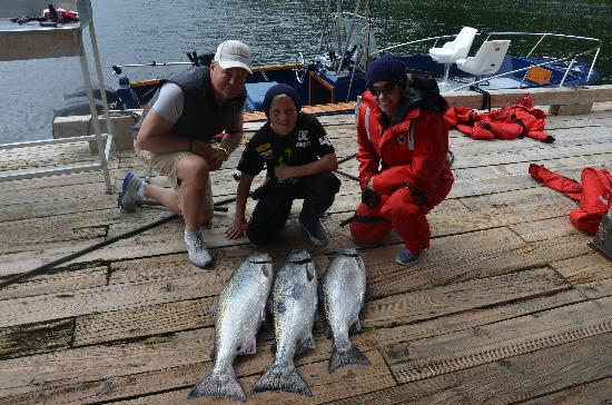 Clayoquot Wilderness Resort: Second day of fishing only keep the Big Fish