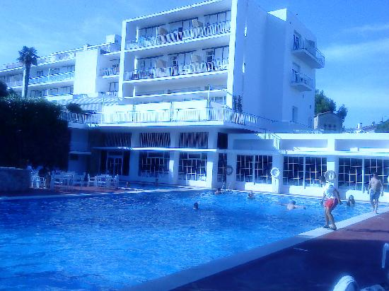 Hotel Alga: L'hotel vu de la piscine