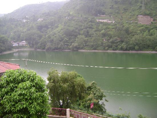 view of bhimtal lake from neelesh inn