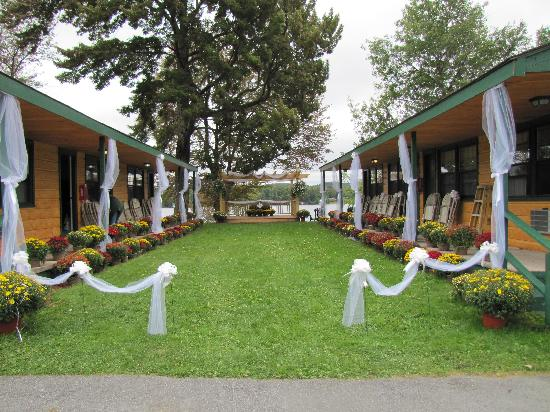 Great Pines: The Courtyard decorated for a wedding
