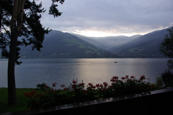Seevilla Freiberg: Early morning view from our terrace
