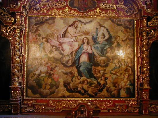 """San Pedro Church (Iglesia de San Pedro): Bernardo Bitti, SJ. """"La coronación de la Virgen"""""""