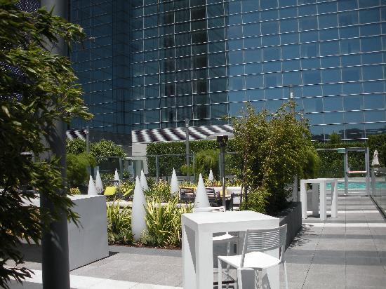 โรงแรมเจดับบลิวแมร์ริออตต์ ลอสแอนเจลิส แอท แอลเอไลฟ์: view from pool bar