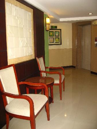 Hotel Fortuna: waiting area near elevator