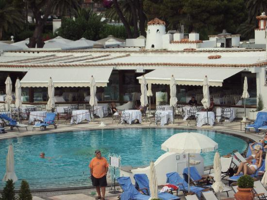 """Hotel Flora: The """"scene"""" at the Quisisana pool next door... worth a visit"""