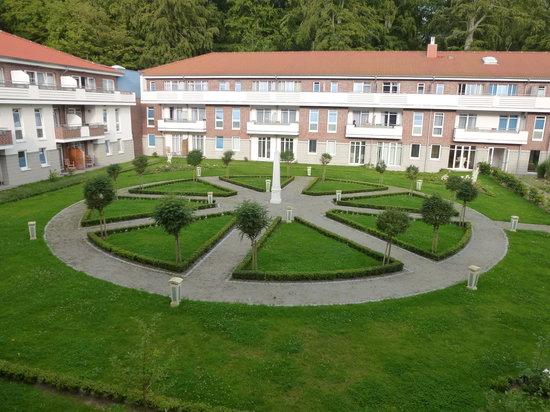 Hotel Badehaus Goor: Zimmeraussicht auf den Innenhof Badehaus Goor