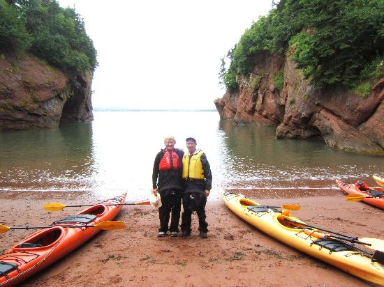 Salmon River B and B Ltd: Kayaking fun in St. Martins, New Brunswick