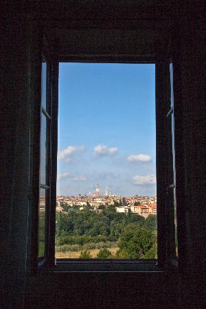 Podere La Strega: room with a view