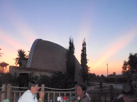 Aqua Fantasy Aquapark Hotel & SPA: sunset behind Amphitheatre