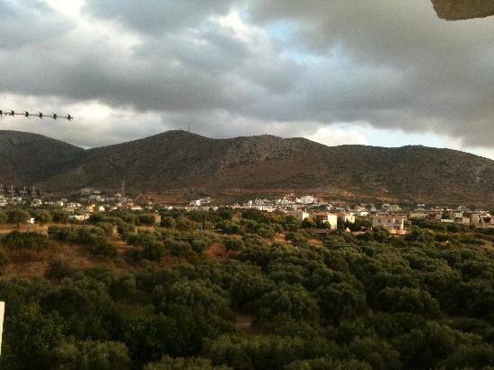 Simple Hotel Hersonissos Sun: view from balcony facing behind vasso