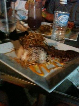Casa Robinson: churrasco with majado isleno yummy!!