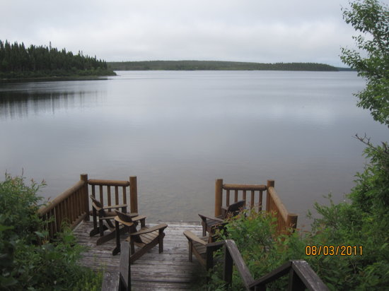 Tuckamore Lodge: View from front deck