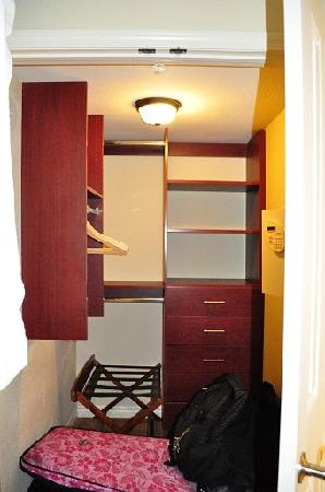 large closet in masterbedroom