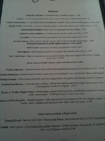 Yellowfin's: menu 2011-08-13
